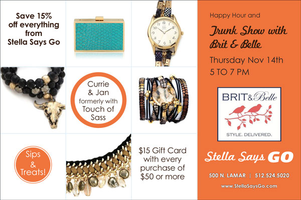 Brit & Belle Trunk Show Invite