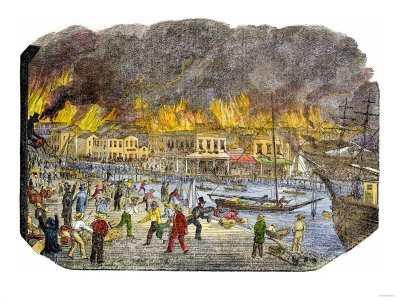 Waterfront Fire 1851