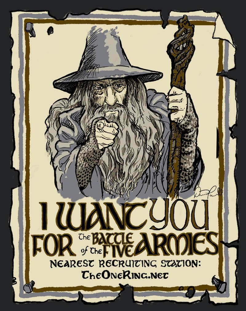 Gandalf Wants You! - new shirt design