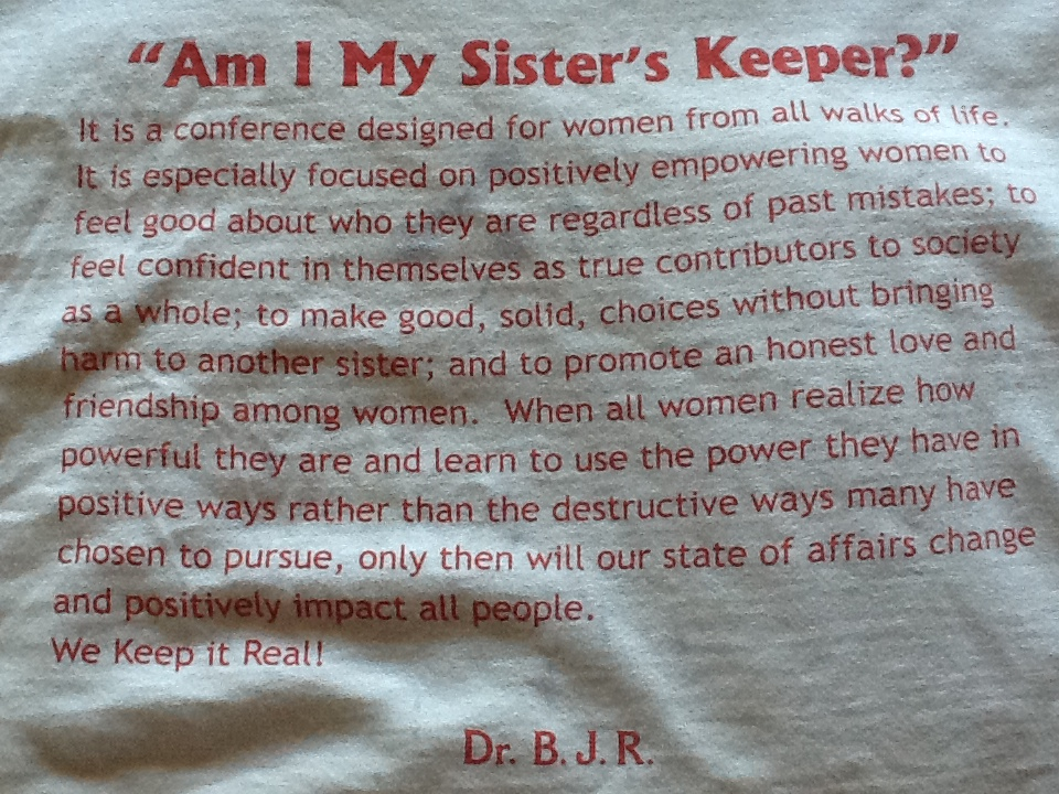 Am I My Sisters Keeper T Shirt Back