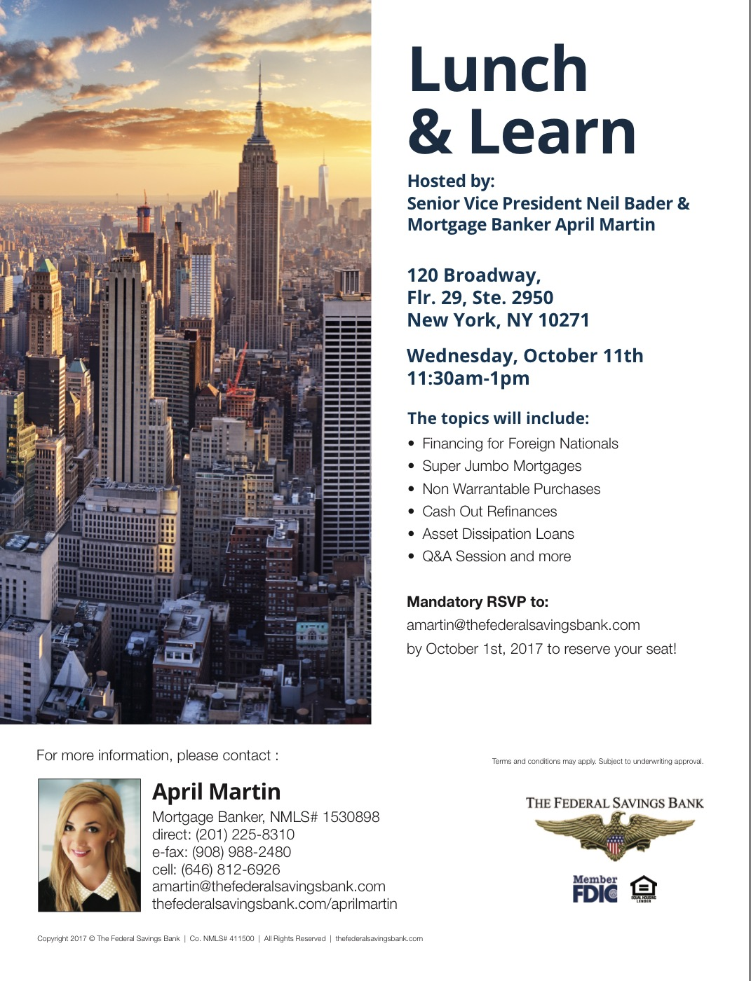 Lunch and Learn Finance Professionals