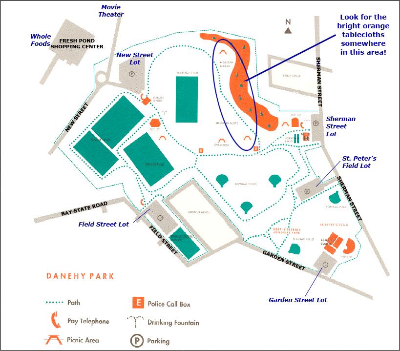 Danehy Park Map