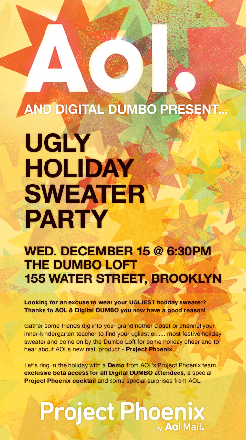 #22 AOL Ugly Christmas Sweater party