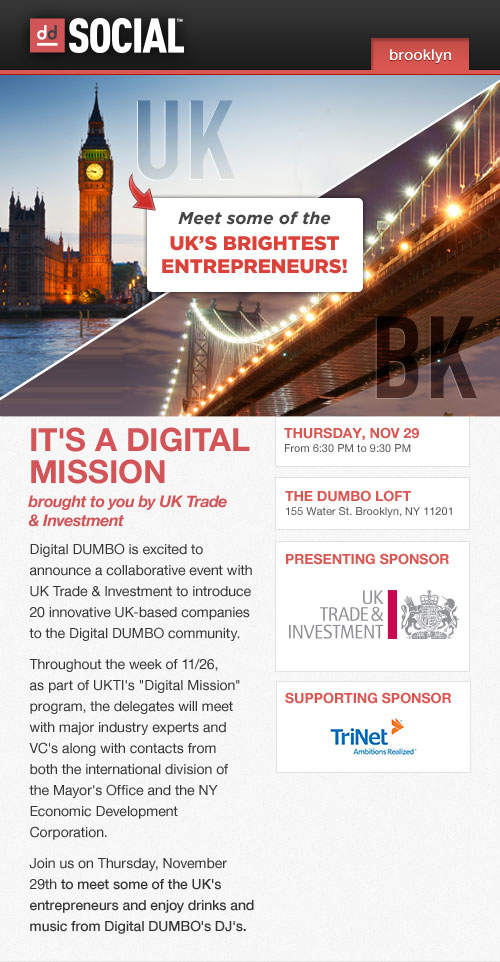 Digital DUMBO and UKTI