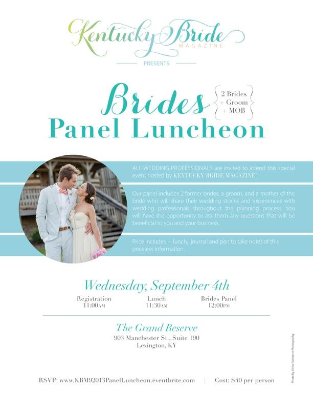 Kentucky Bride Panel Luncheon on September 4, 2013