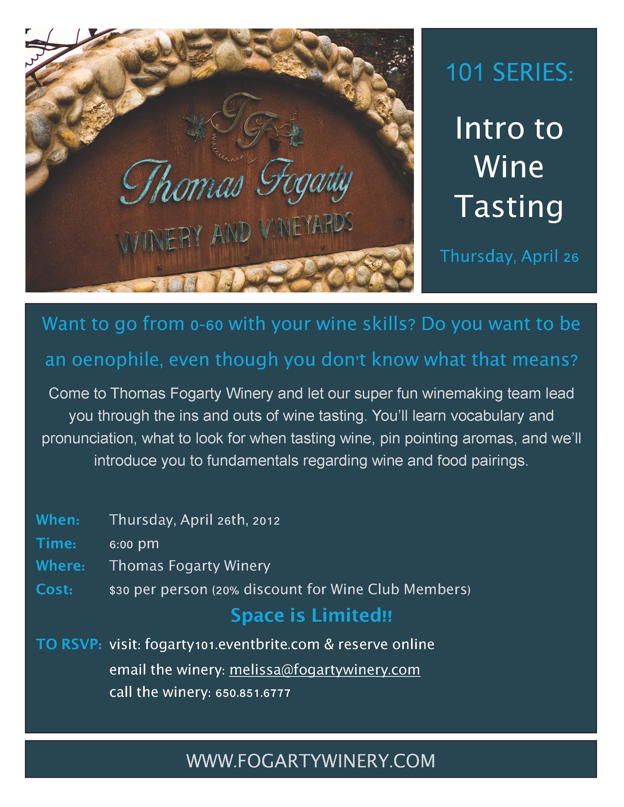 101 Series: Intro To Wine Tasting