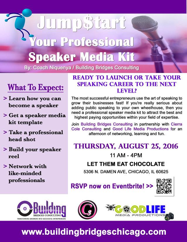 August Jump$tart Your Professional Speaker Media Kit