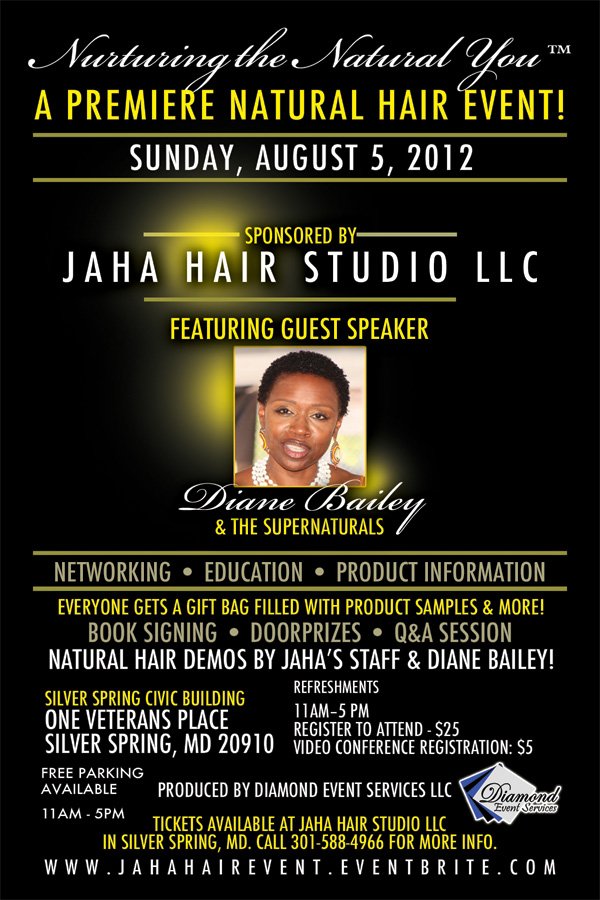 Nurturing the Natural You™ Event Flyer 8.5.12