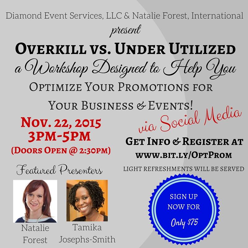 Overkill vs Under Utilized Workshop Flyer