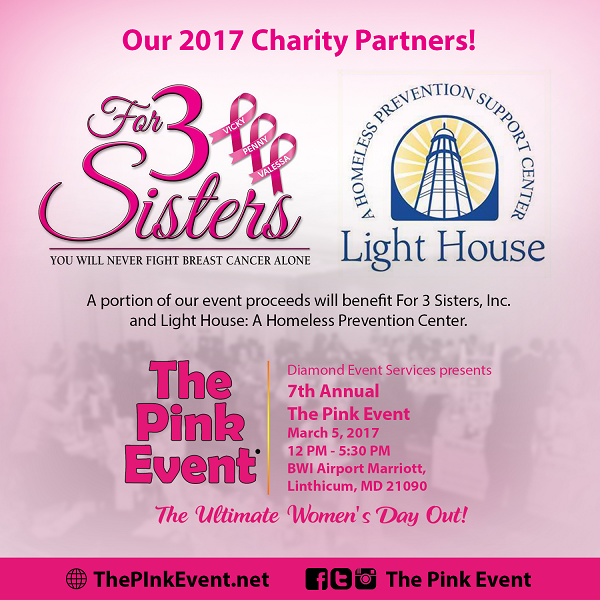 The Pink Event 2017 Flyer - Charity Partners