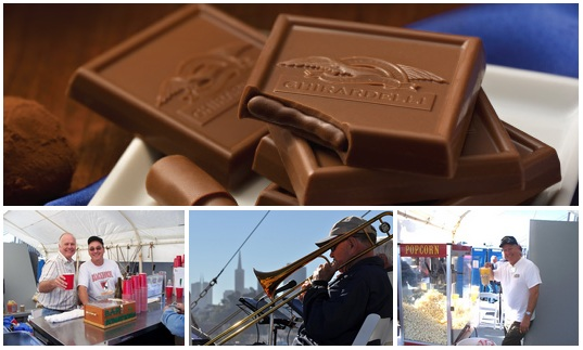 Enjoy a bay crruise with Ghirardelli 