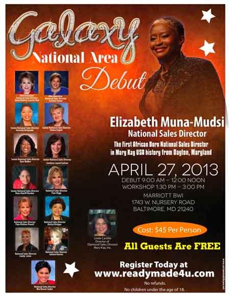 Elizabeth Muna-Mudsi's debut flyer