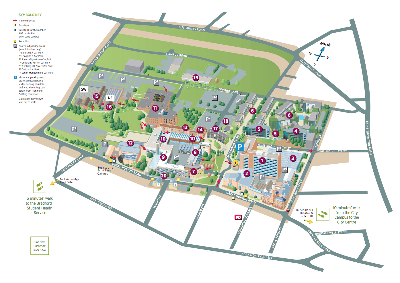 University of Bradford Campus Map
