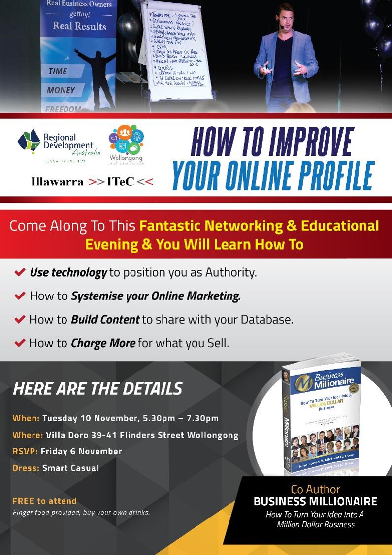WollongongSBC - November 2015 Event - How To Improve Your Online Profile