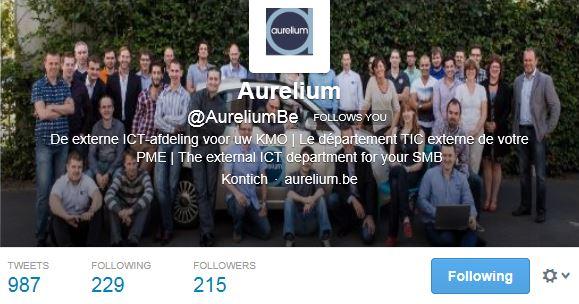 Twitter account Aurelium