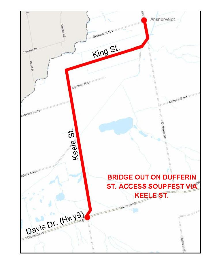 Bridge Out on Dufferin St.