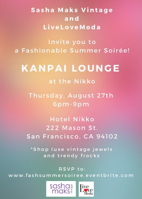 Fashionable Summer Soiree