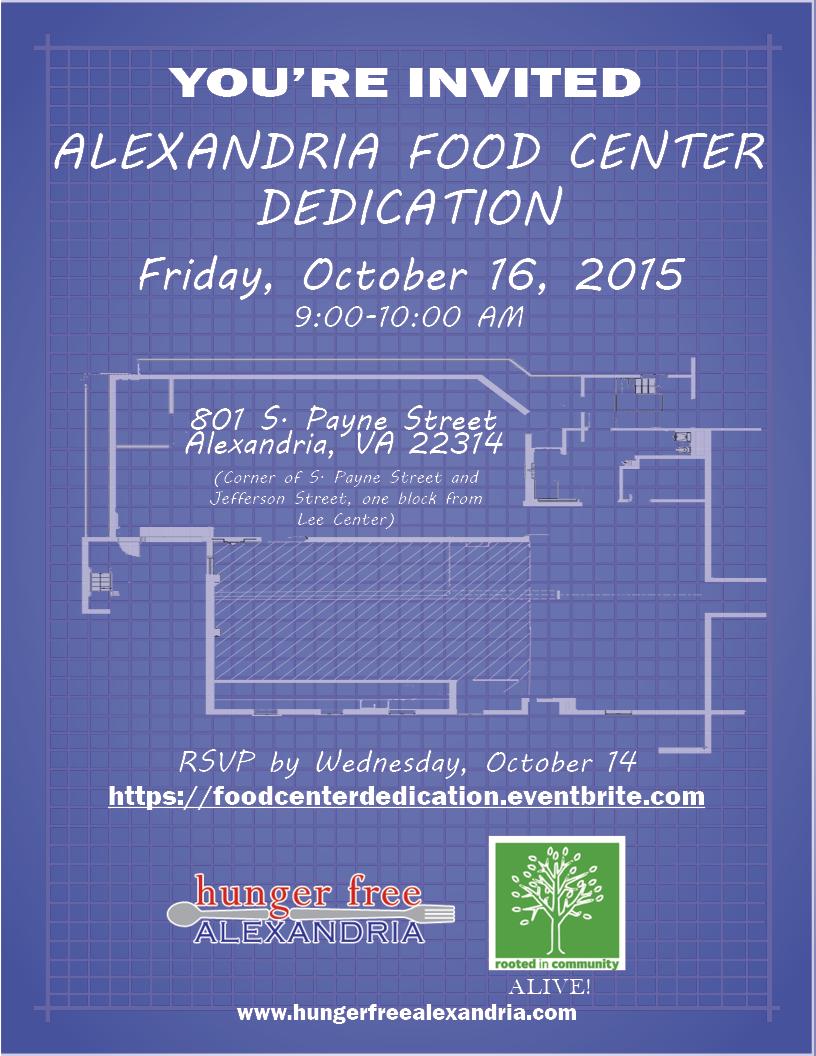 Food Center Dedication Invitation