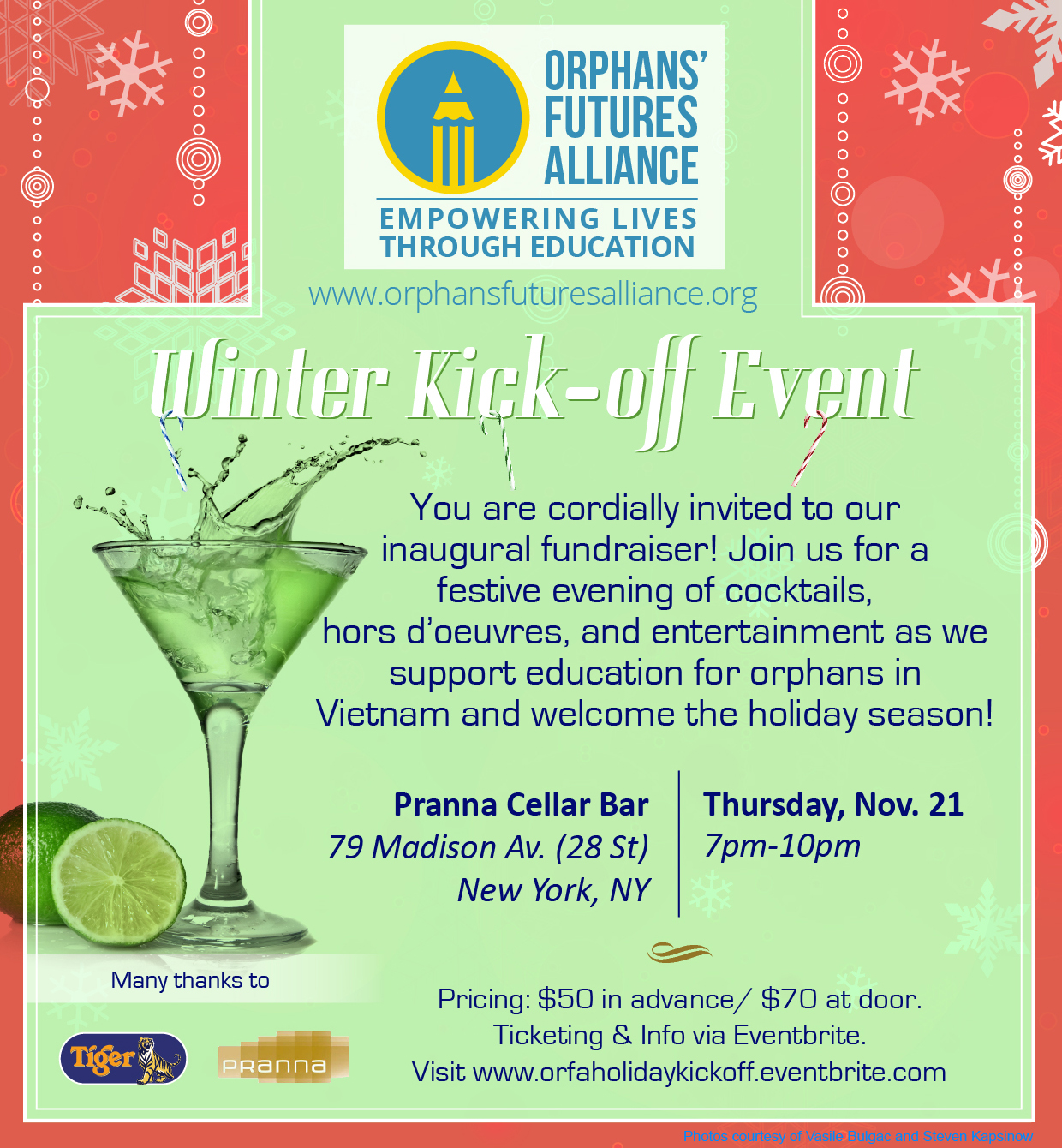 OrFA Holiday Kick-Off Invitation