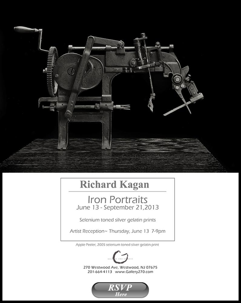 Richard Kagan -Iron Portraits - Gallery Opening Invite