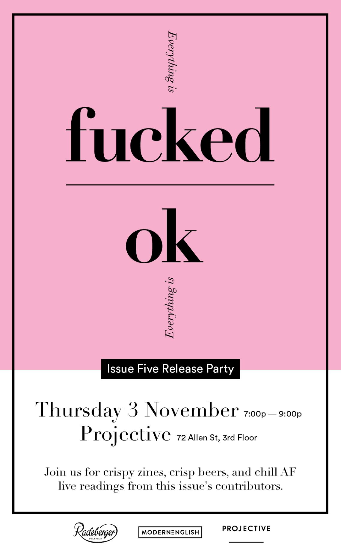 Issue Five invite