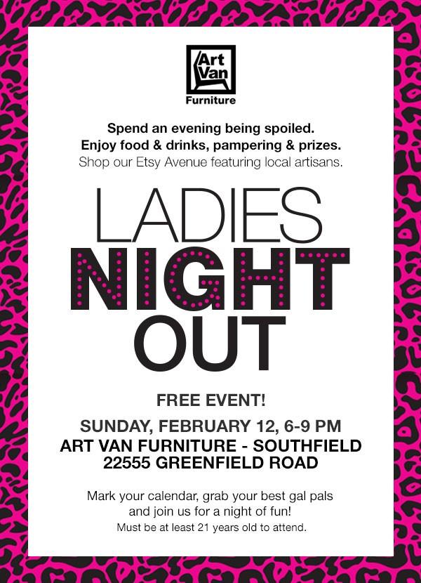 Ladies Night Out Southfield Mi 2017 Art Van Furniture 12 Feb 2017