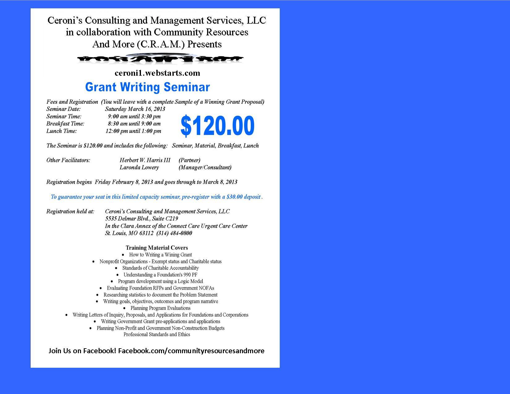 Grant Development for Non Profits Key Speaker Melanie Swift MNM ...