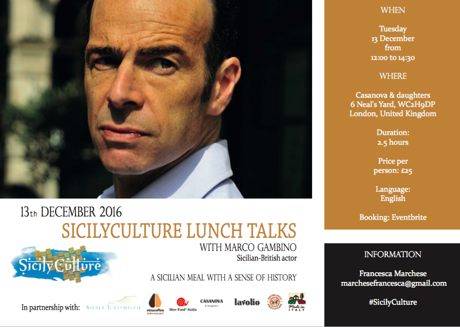 SicilyCulture lunch talks - Marco Gambino
