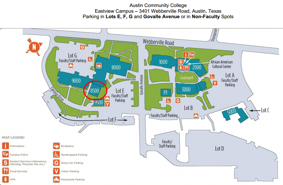 ACC Eastview Campus Map