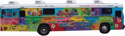 The Blood Center of Central Texas Blood Bus