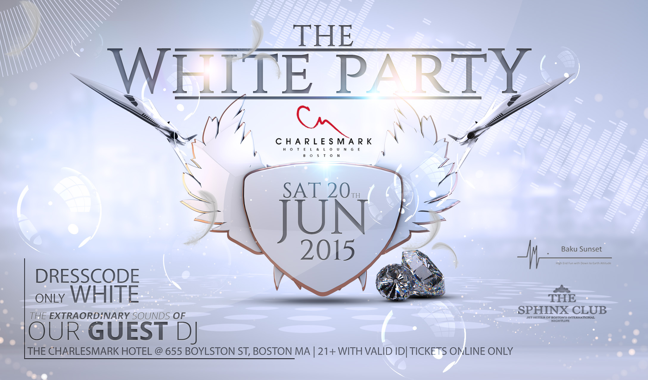 the annual white party at charlesmark hotel lounge sat. Black Bedroom Furniture Sets. Home Design Ideas
