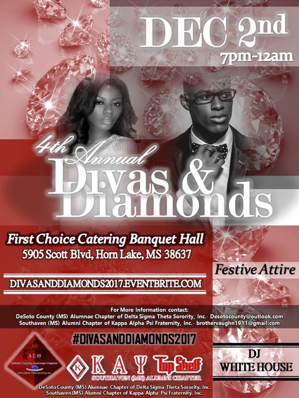 Updated 4th Annual Divas & Diamonds Holiday Party Flyer