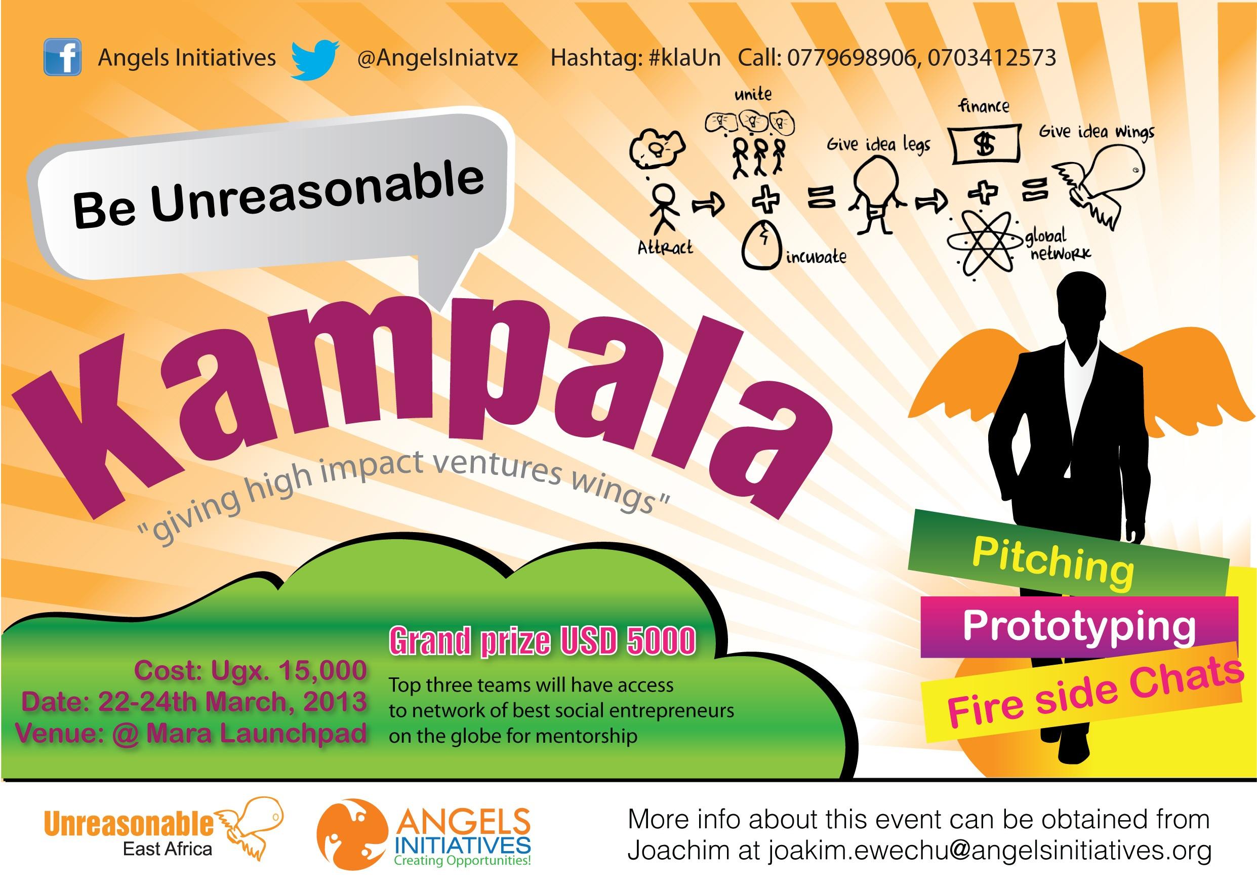 Be Unreasonable Kampala flyer