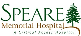 Speare hospital's font logo with tree graphic