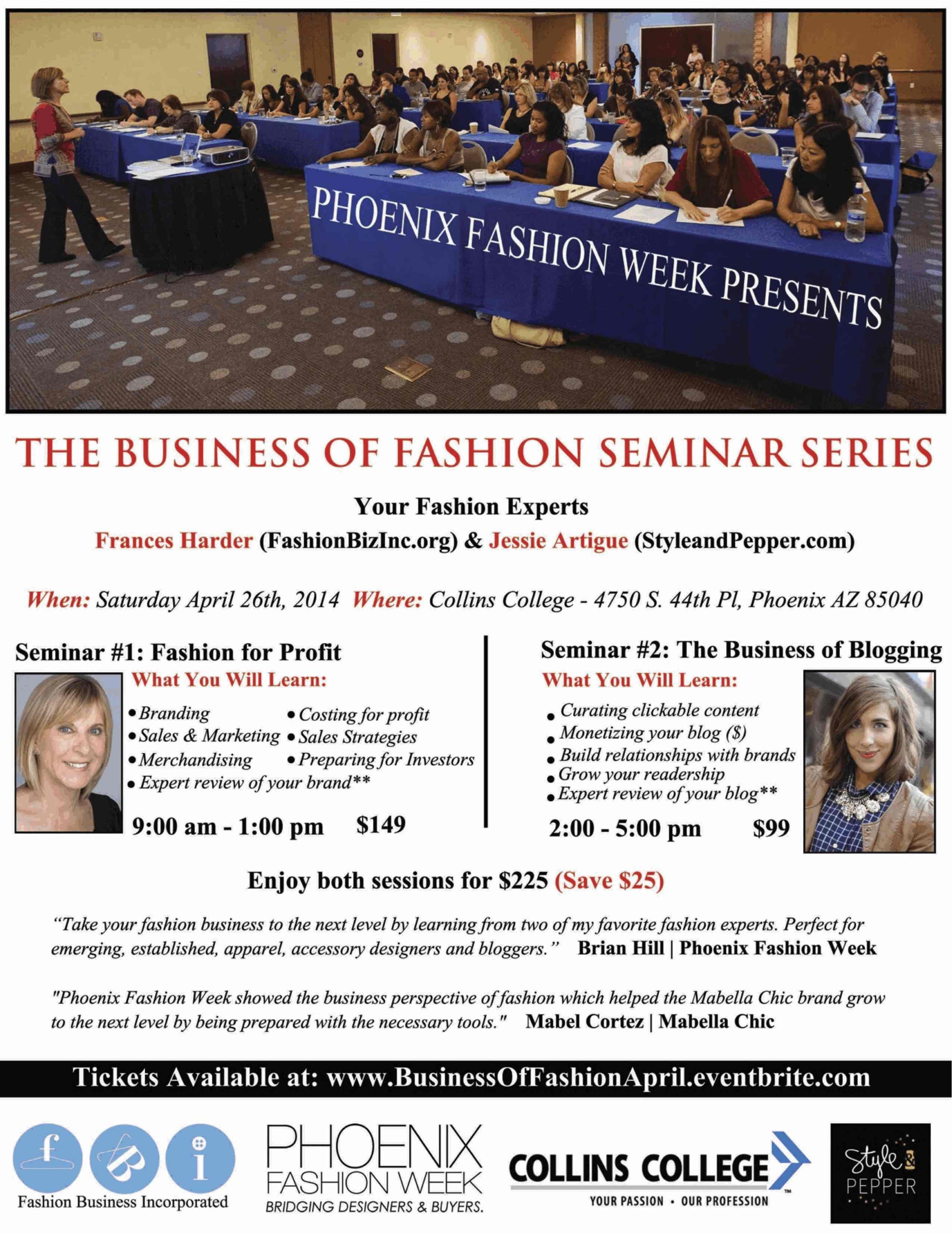 Business of Fashion Seminar Series Invitation