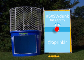 Sprinklr's Dunk for Charity #SXSWdunk