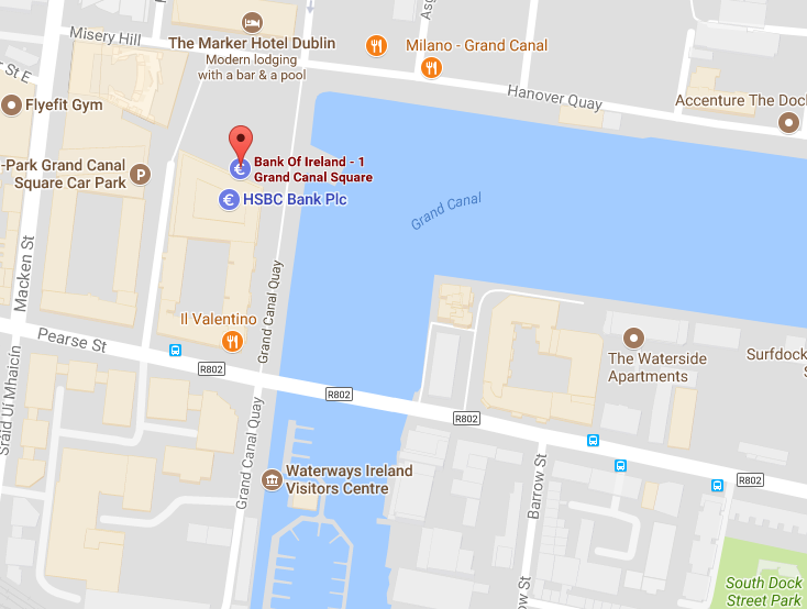 Bank of Ireland Grand Canal Square location
