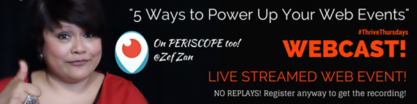 5 wasy to power up your web events - SOAR webcast