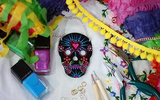 Illamasqua Sugar Skull Necklace Workshop
