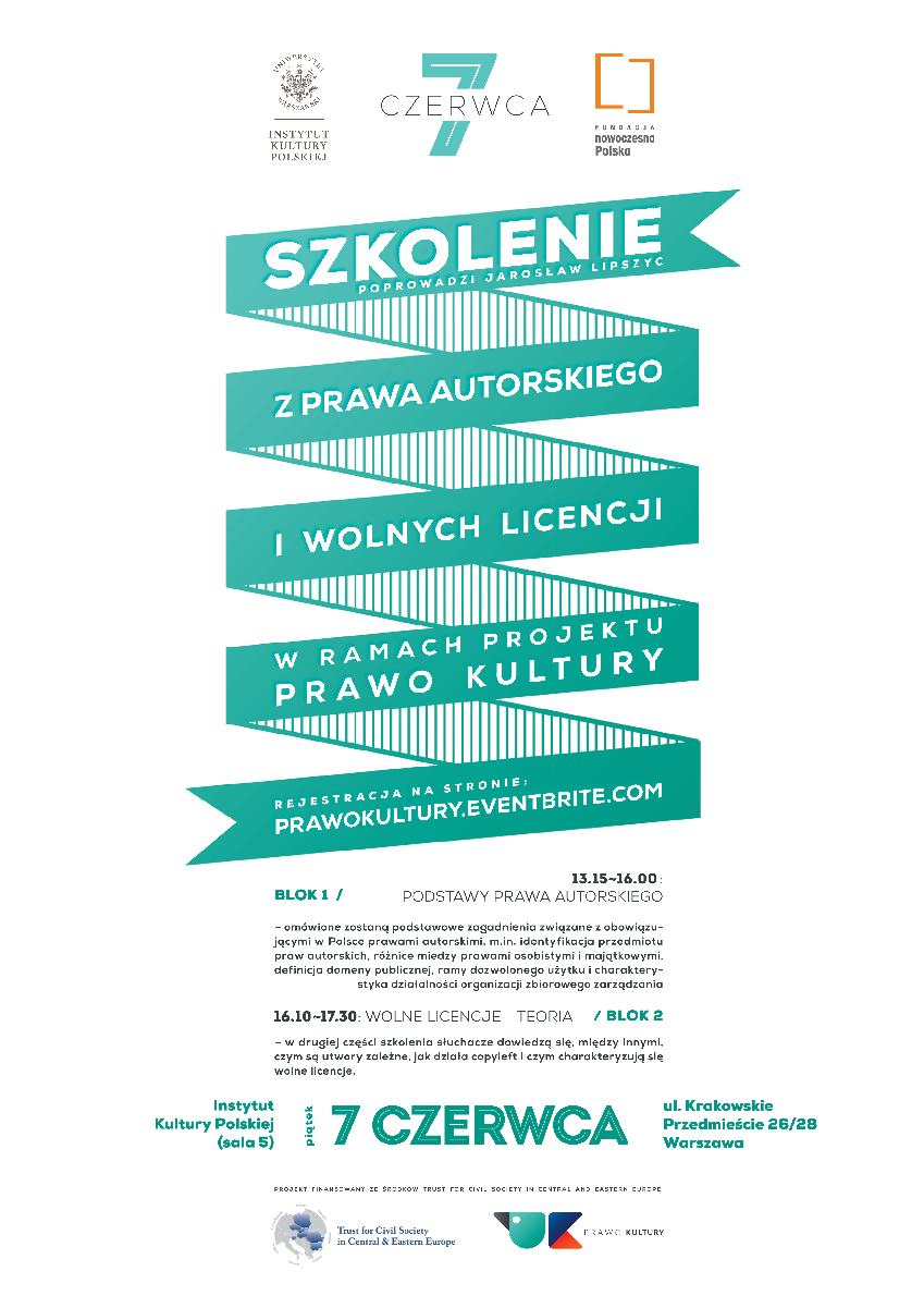 Zaproszenie na szkolenie z prawa autorskiego