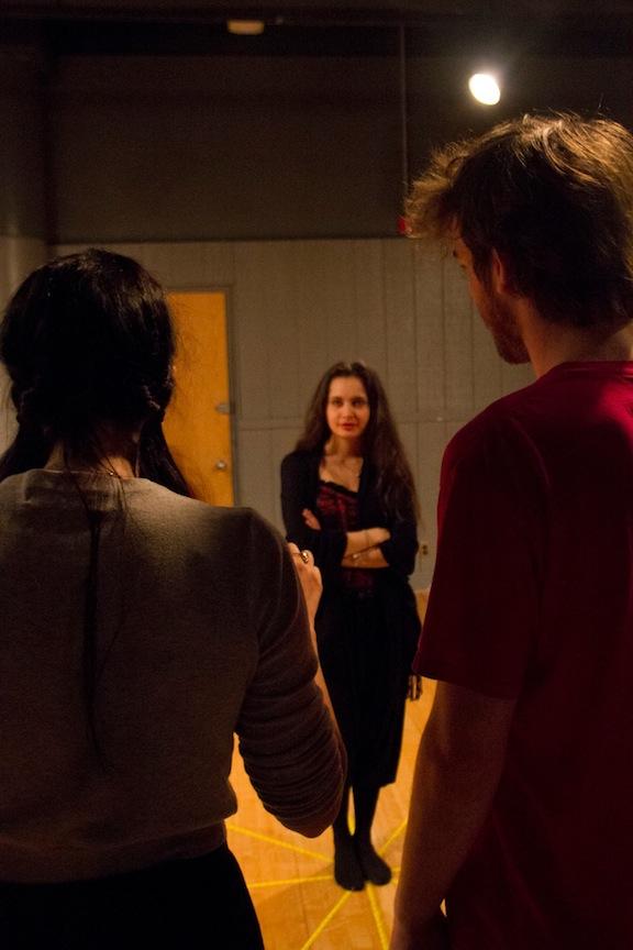 Chloe directing Esmerelda