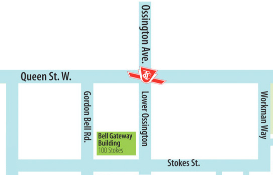 Location of 100 Stokes Street