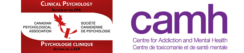 CPA Clinical Psychology Section and CAMH logos