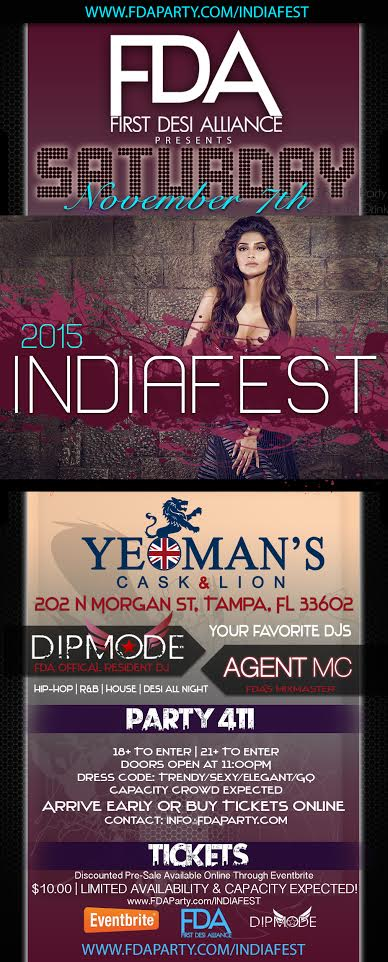 The Official & Annual INDIAFEST 2015 After-Party