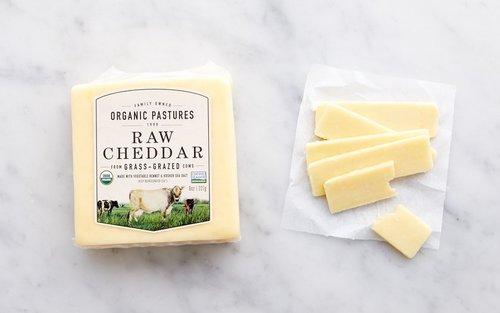 Organic Pastures Raw Cheddar