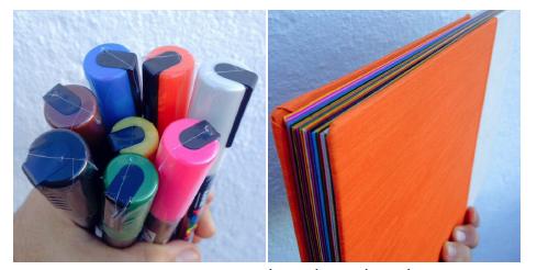 Caderno exclusivo da formaçao e canetas UniPOSCA e c