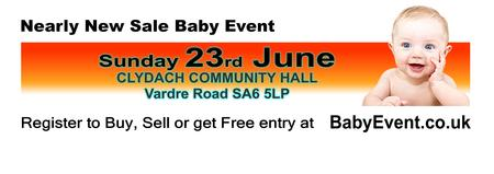 Clydach Nearly New Sale Baby Event