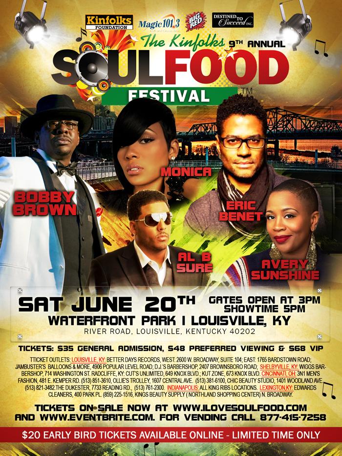 Kinfolks Soul Food Festival | Louisville, KY | Saturday June 20, 2015| Gates open at 3PM ...