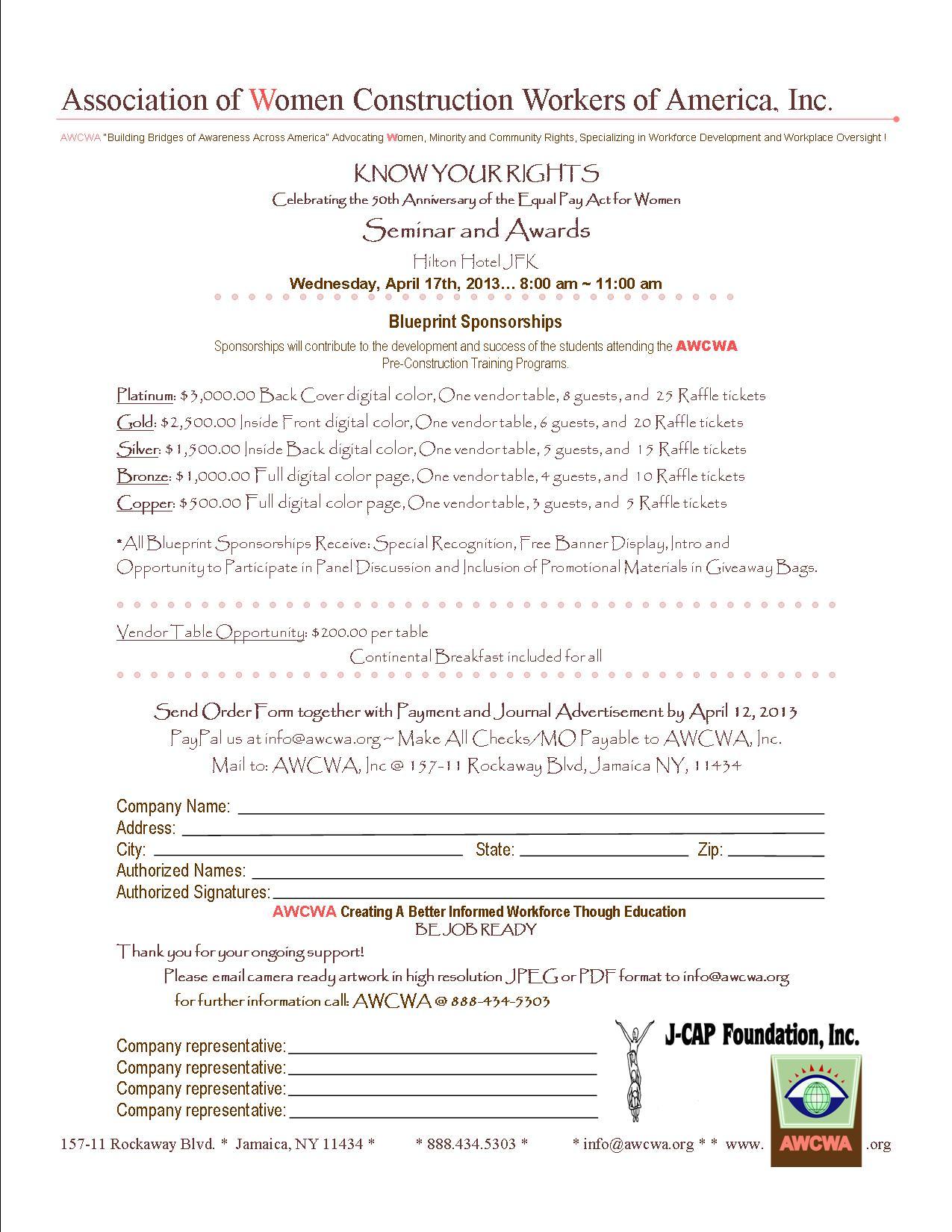 sponsorship flyer w/paypal