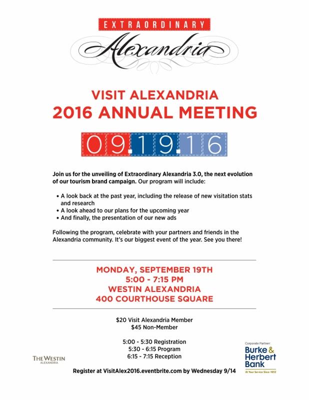 Visit Alexandria Annual Meeting 2016